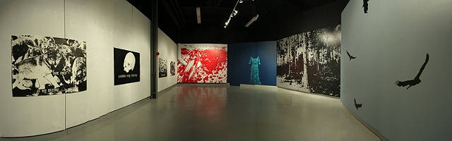 Installation View (digitally stitched panorama)
