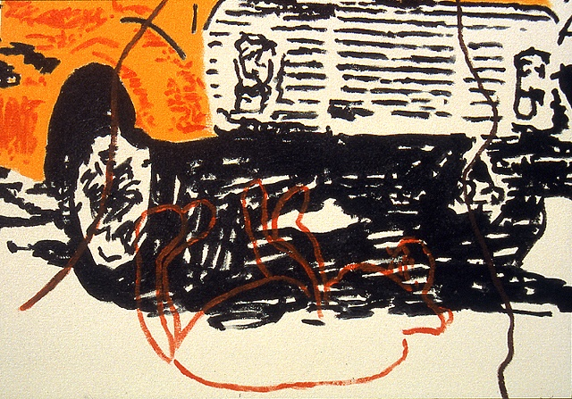 Hugger Orange Dump Truck (detail)