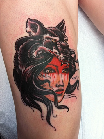 Wolfwoman Red