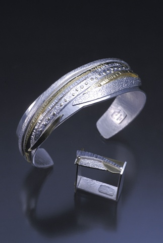 Anniversary Bracelet with Square Ring