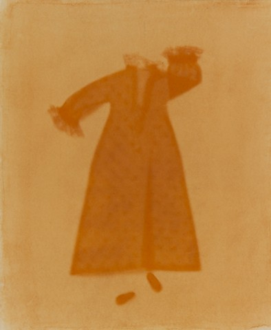 Anthotype made using yellow onion skin
