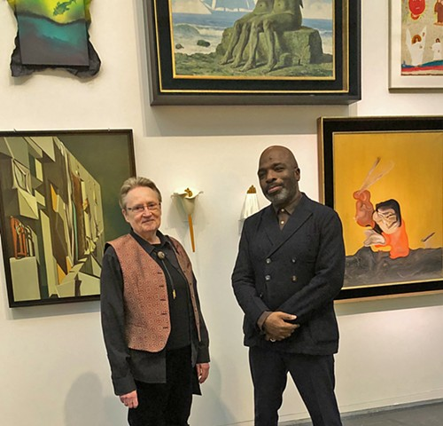 Designer and Curator Duro Olowu and I at the MCA