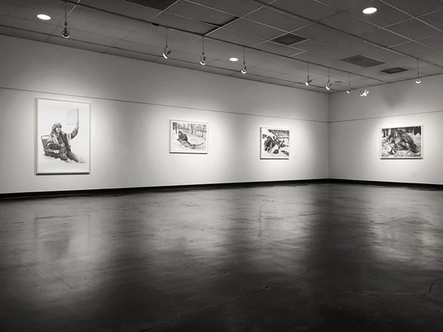 Installation at Fine Arts Center Gallery