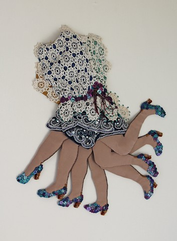 fiber/textile/danceimage/San Francisco/wall relief