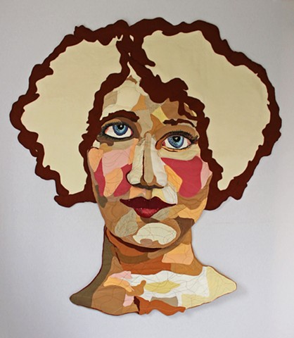 Fiber/Portrait/San Francisco/Embroidery/Large Scale