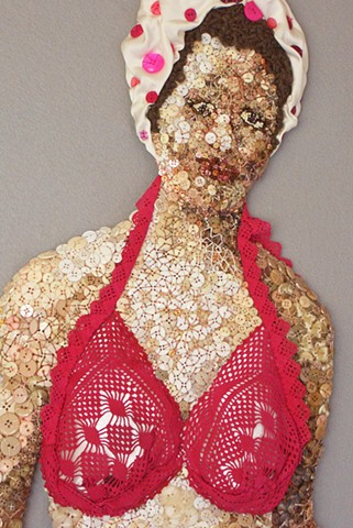 Figure/Fiber/LifeSize/SanFrancisco/Button Work/Knitting
