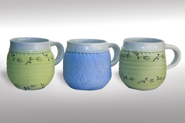 cups. mugs, porcelain