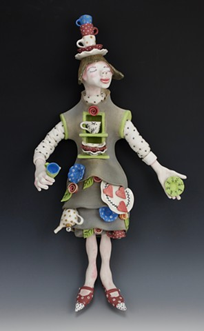 Ceramic figure by Laura Peery