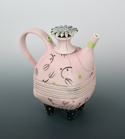 Porcelain teapot by Laura Peery