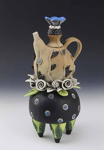 Porcelain teapot by artist Laura Peery