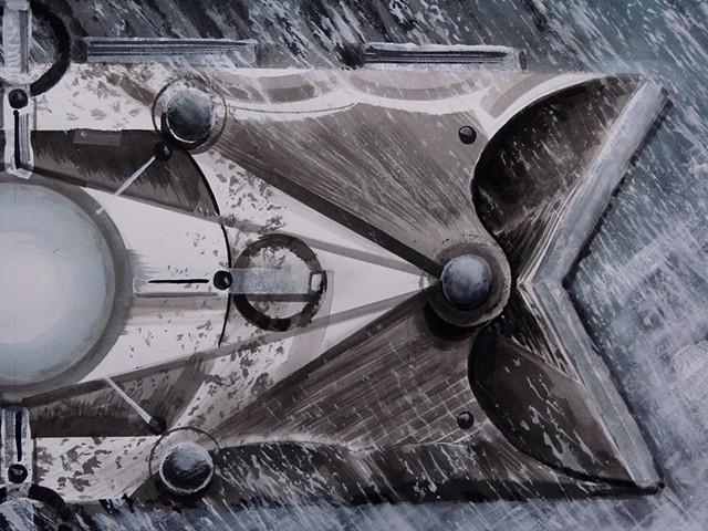 """detail 3 - """"Sun Fish Solar Vane"""""""