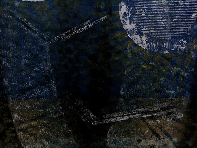 Cranes in the Moonrise - detail