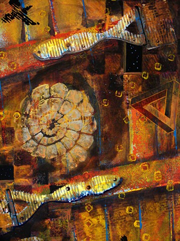 detail - Counting to Ten (thousand) - Standard of Golden Light
