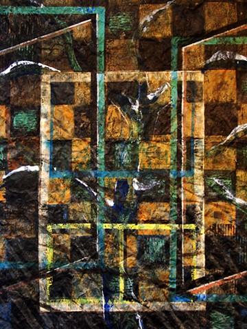 detail -  Windows Towards Winter - Fallen Leaves