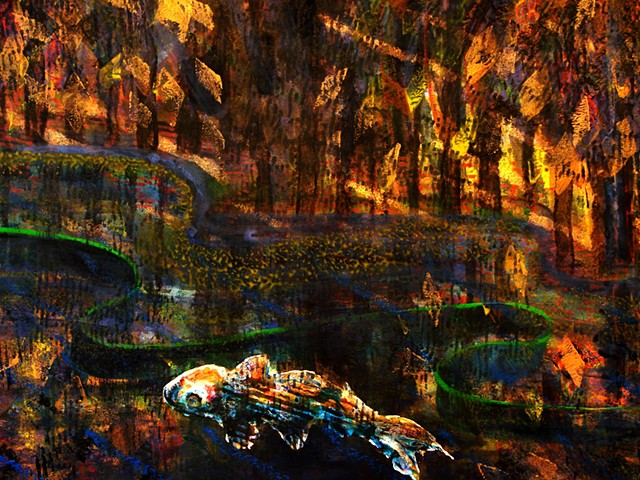 detail - The River Trees - Grows into Lighted Delta