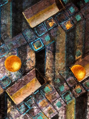 New Year's Bridge (bronze) detail