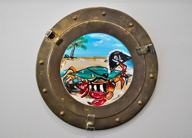 Pirate Crab in a Porthole