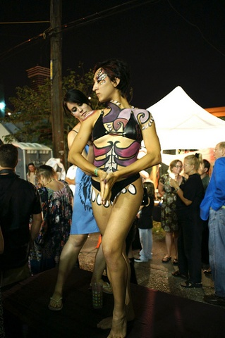 Live Body Painting at The Big Top's Circus Circus Event