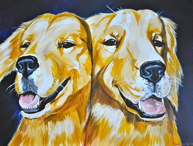 Bailey and Daisy Pet Portrait