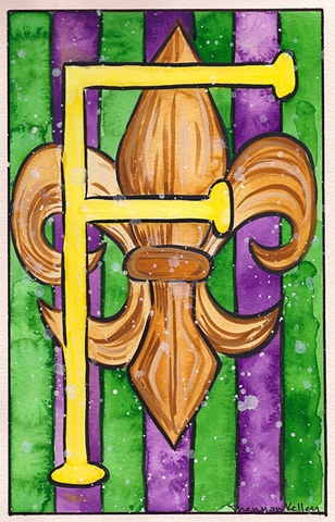 F is for Fleur de Lis