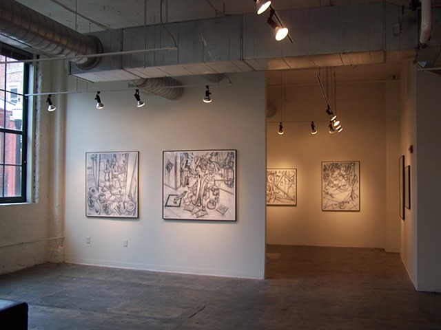 Solo exhibit of drawings at The Art Academy of Cincinnati, Ohio