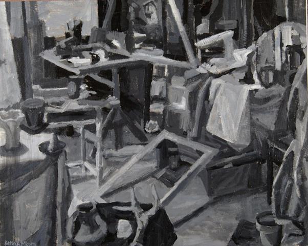Tonal still life in interior study