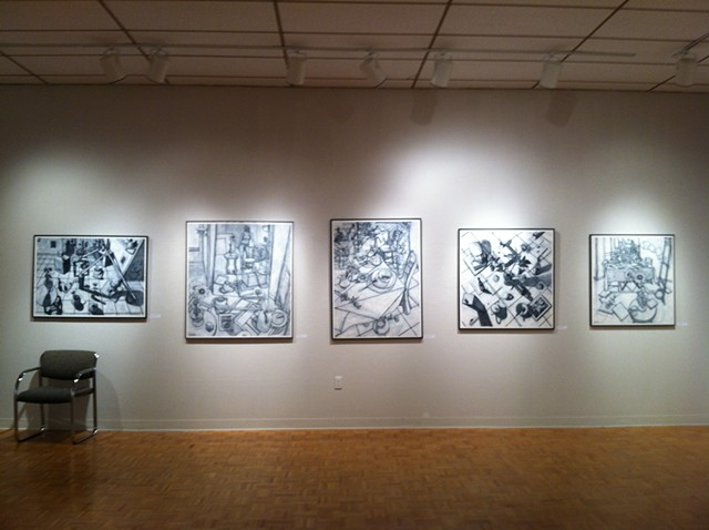 Solo exhibit of 21 drawings at Wright State University in the Experimental Gallery, Dayton, Ohio