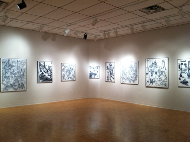 Solo exhibit at Wright State University in the Experimental Gallery in Dayton, Ohio.