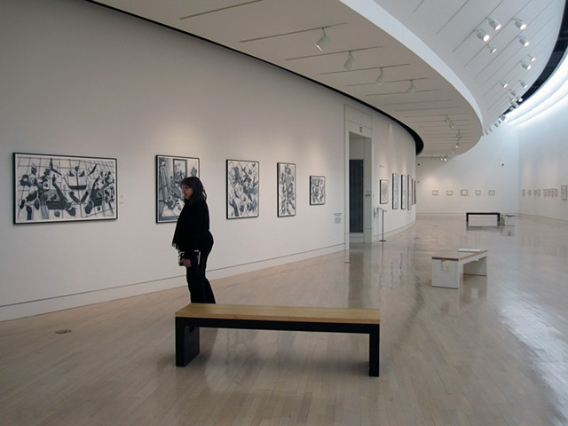 'Fine Lines' exhibition held at the Springfield Museum of Art, Ohio
