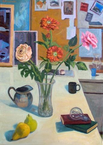 Flowers with Black Mug