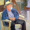 Man Seating with Hat