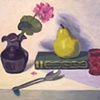 Vase, Pear and Spoon