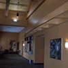 Installation shot of paintings purchased for lobby of Family Health Inc. in Greenville, OH.