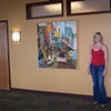 Installation shot of one of the paintings purchased in 2008 for the Family Health Inc., Greenville, OH. Displayed in their lobby (corporate collection).