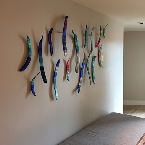 Wrapped Poinciana Pods Installation - The Westin Hotel Grand Cayman