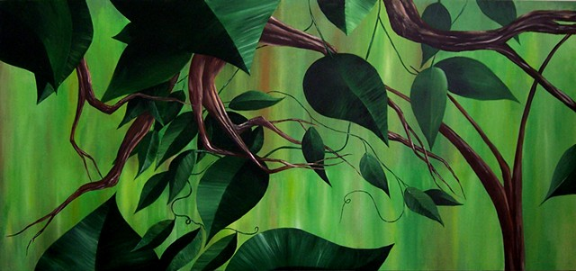 Forest 2 - 3.  Painting at Palmetto Bay Office Complex, Miami.