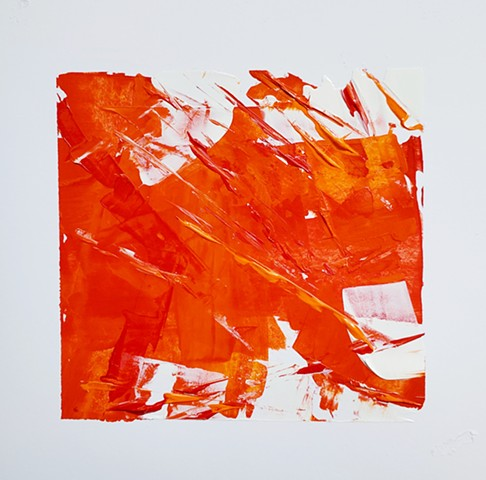 25 of Twenty-Eight -acrylic on  cardstock 5.5x5.5 Sold