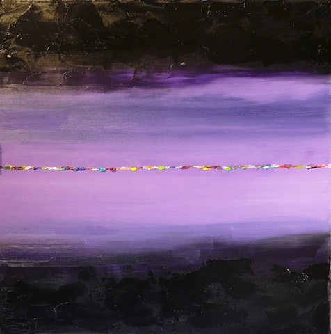 Purple Pulse II - Oil on Canvas - 24x24 - Sold