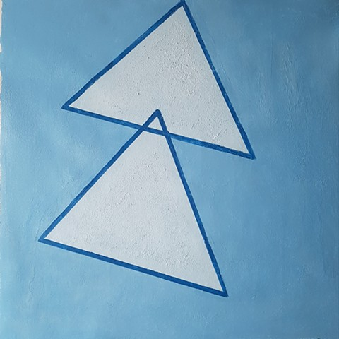CaeruleumTriangles-acrylic on canvas  16x16