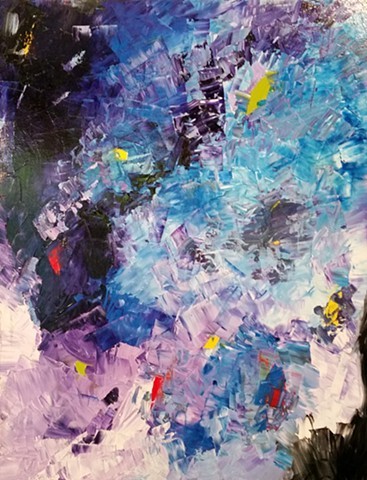 Frantic Rush - Oil on Canvas - 36x28 - Sold