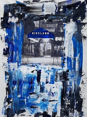 Birdland New York City- Acrylic on Canvas - 18x24 - Sold