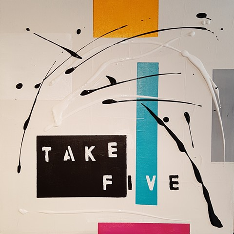 #03 -Take Five (Brubeck) acrylic on canvas 20x20