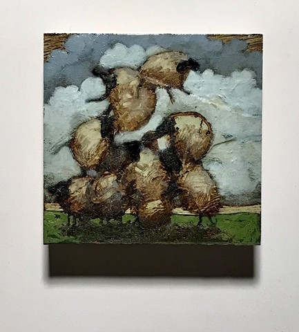 matt lively painting sheep