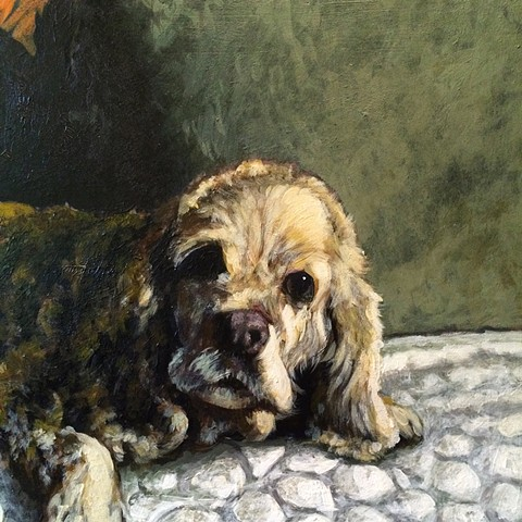 Matt Lively dog painting
