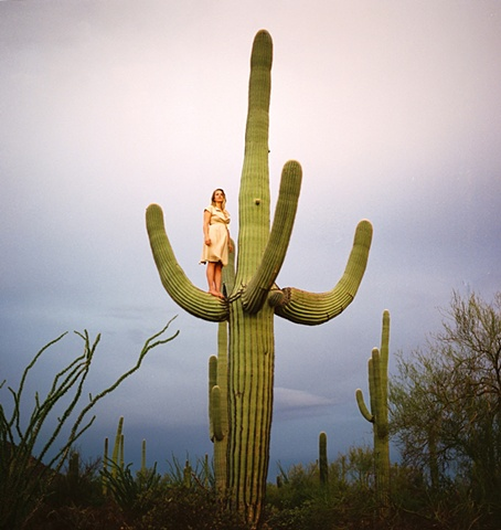 Untitled (Woman on Saguaro)