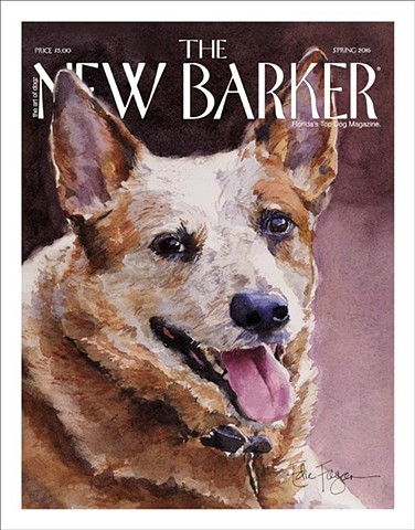 cover New Barker magazine by Edie Fagan.