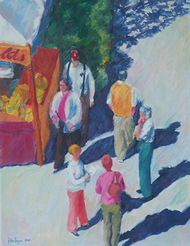 painting of Winter Park art festival by Edie Fagan