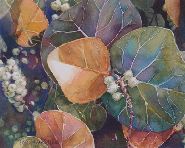 painting of sea grapes by Edie Fagan