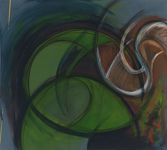"Chris D. Smith, Chicago, IL Artist, Abstract Painter, Yesterday, 2011, acrylic and charcoal on panel, 36"" x 40"""