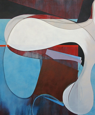 """Chris D Smith, Chicago, IL Artist, Abstract Painter, Untitled IM13, 2009, acrylic, charcoal and oil on canvas, 60"""" x 50"""""""